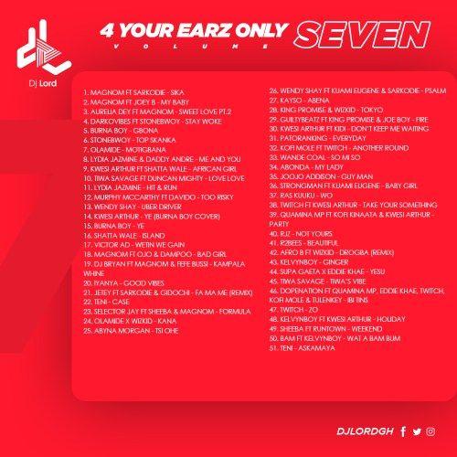 DJ Lord – 4 Your Earz Only (Volume 7) - CratesHub com